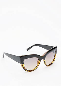 Tortoiseshell Chunky Cat Eye Sunglasses