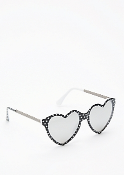Polka Dot Hearts Sunglasses