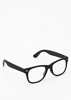 Matte Retro Frame Glasses