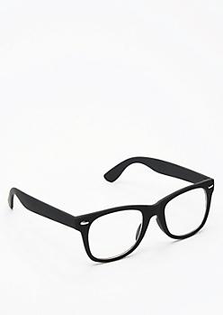 Matte Retro Frame Glasses