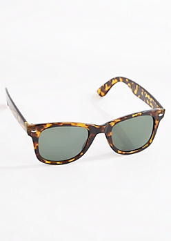 Tortoiseshell Translucent Retro Sunglasses
