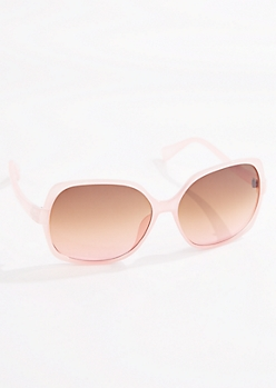 Pink Oversized Round Sunglasses