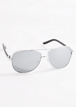 Silver Mirror Aviators