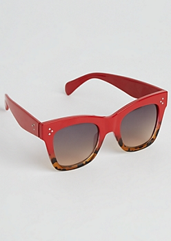 Tortoiseshell Ombre Retro Sunglasses