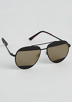 Black Split Lens Aviators