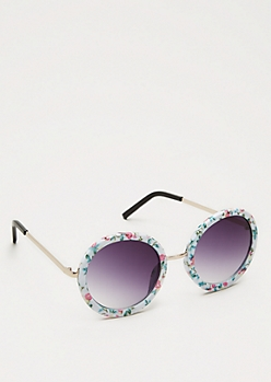 Floral Rounded Sunglasses