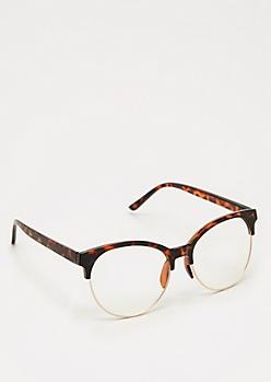 Tortoiseshell Half Frame Glasses