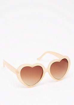 Nude Heart Sunglasses