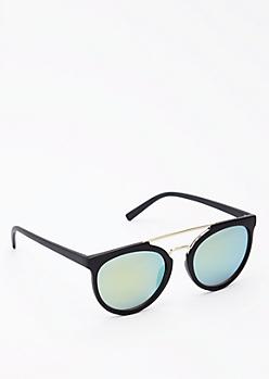 Black Matte Browbar Sunglasses
