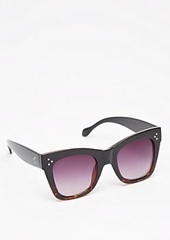 Tortoiseshell Chunky Square Sunglasses