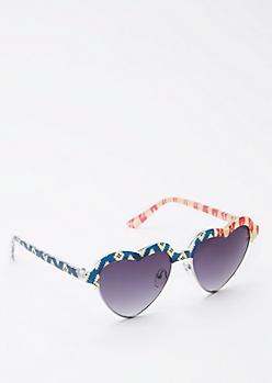 Americana Hearts Half-Frame Sunglasses