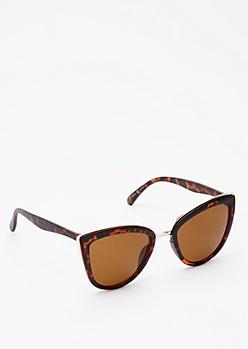 Tortoiseshell Golden Cat Eye Sunglasses