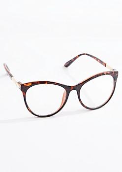 Gold Temple Tortoiseshell Cat Eye Glasses