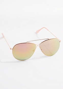Cross Bridge Mirrored Aviators