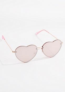 Pink Heart Eye Sunglasses