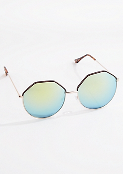 Octagon Mirrored Sunglasses