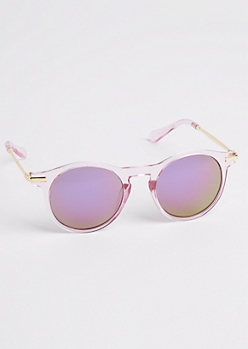 Pink Keyhole Sunglasses