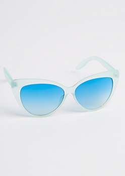Translucent Blue Cat Eye Sunglasses