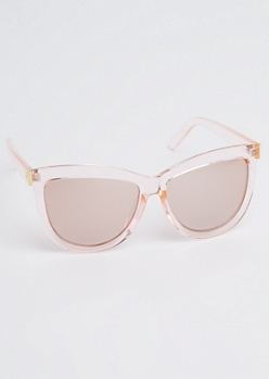 Translucent Pink Cat Eye Sunglasses