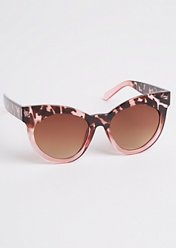 Pink Tortoiseshell Cat Eye Sunglasses