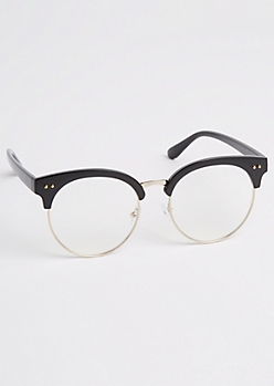 Rounded Half Frame Glasses
