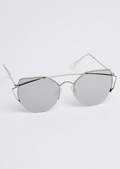 Geo Cat Eye Brow Bar Aviators