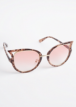 Geo Cat Eye Tortoiseshell Sunglasses