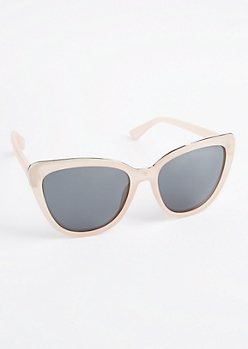 Pink Frosted Cat Eye Sunglasses