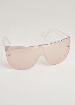 Rose Gold Full Coverage Sunglasses