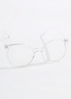 Clear Oversized Cat Eye Readers