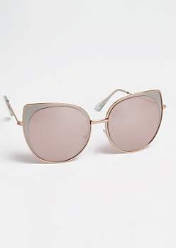 Layered Cat Eye Sunglasses