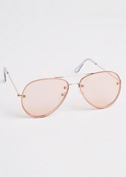 Pink Hidden Frame Aviators
