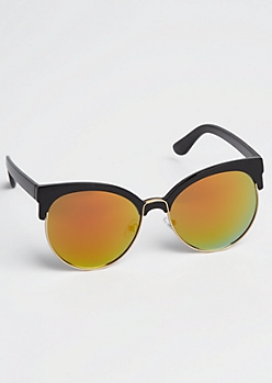Yellow Half-Frame Sunglasses