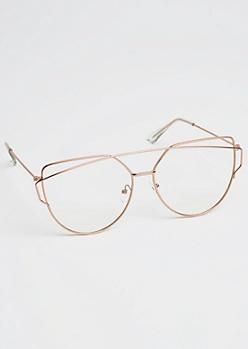Geo Browbar Glasses