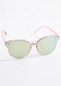 Pink Extended Lens Cat Eye Sunglasses