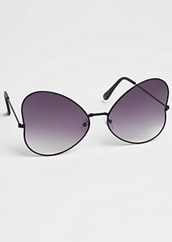 Black Gradient Butterfly Sunglasses