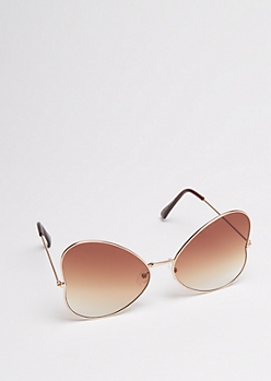 Gold Gradient Butterfly Sunglasses