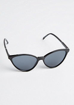 Black Wide Cat Eye Sunglasses