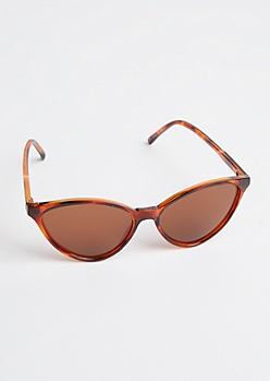 Tortoiseshell Wide Cat Eye Sunglasses