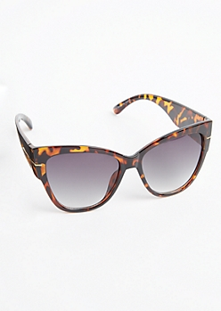 Tortoiseshell Oversized Cat Eye Sunglasses