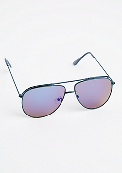Blue Metallic Aviators