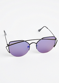 Blue Cat Eye Aviators