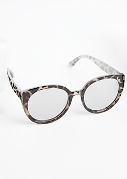Tortoiseshell Round Cat Eye Sunglasses
