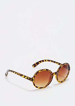 Brown Rounded Gradient Sunglasses