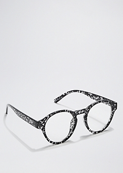 Speckled Rounded Glasses