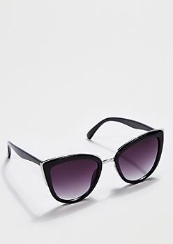Silver Trim Cat Eye Sunglasses