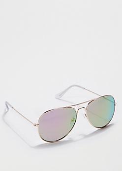 Rainbow Mirror Aviators