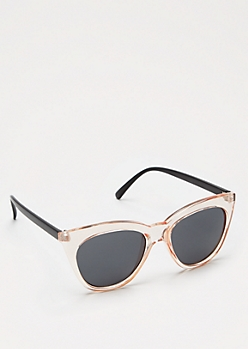 Pink Translucent Cat Eye Sunglasses