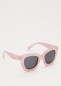 Pink Oversized Cat Eye Sunglasses