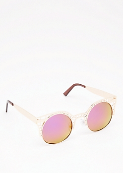 Cut-out Rounded Sunglasses